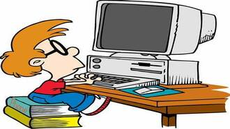 Image of Boy on Computer